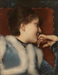 "Gabriel Schachinger: ""Portrait einer Frau"", 1886, oil on canvas, 48 x 37,5 cm,  Private collection."