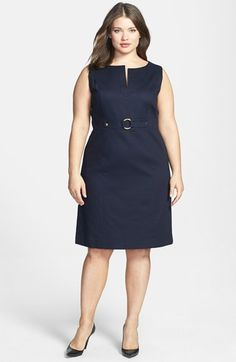Tahari Split V-Neck Sheath (Plus Size) available at #Nordstrom $128