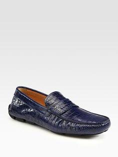 f025e833f19d Prada - Stamped Croc Drivers - Saks.com ...I love mens shoes