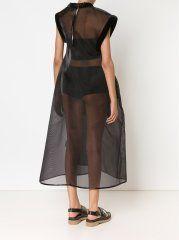 MELITTA BAUMEISTER - Sheer Structured Dress - 15FW017 BLACK - H. Lorenzo