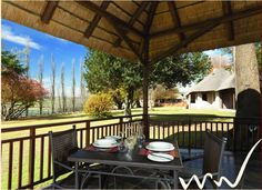Whispering Waters - self-catering accommodation at Fort Nottingham on the… Kwazulu Natal, Lush Green, Nottingham, Countries Of The World, South Africa, Catering, Pergola, Outdoor Structures, Patio