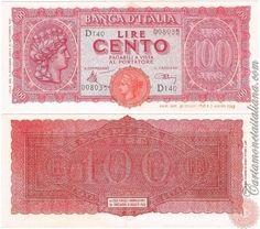 Cartamoneta Italiana .com - Museo Virtuale - : Banca d'Italia – Regno d'Italia - Foto: 100 LIRE - 1944 - Italia Turrita - N 21