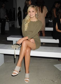 breathtakingwomen: Olivia Holt at the Rebecca Minkoff Fashion Show, New York September, Olivia Holt, Young Actresses, Beautiful Legs, Beautiful Ladies, Celebrity Pictures, Celebrity Women, Sexy Legs, Rebecca Minkoff, Fashion Show