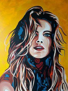 ''Windy''. Acrylic on canvas by Anna Baramati.