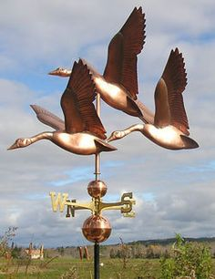 "Copper ""Flock of Geese"" Weathervane Made in USA 354 