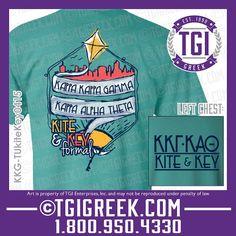 TGI Greek - Kappa Kappa Gamma - Kappa Alpha Theta - Kite and Key - Formal - Greek T-shirt #tgigreek #kappakappagamma #kappaalphatheta