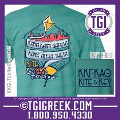TGI Greek - Kappa Kappa Gamma - Kappa Alpha Theta - Kite and Key - Formal - Greek T-shirt #tgigreek #kappakappagamma #kappaalphatheta
