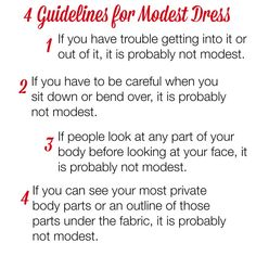 fe681fa2f0d 4 Guidelines for Modest Dress  modesty