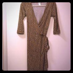 Diane Von Furstenberg Wrap Dress Gorgeous DVF wrap dress in size 0. Leopard  print. EUC. Worn 1-2 times, sadly too small for me Diane von Furstenberg Dresses