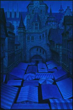 Cityscapes / Architecture (oil/canvas) by Andreas M. Wiese, via Behance