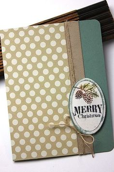Merry Christmas Card by Heather Nichols for Papertrey Ink (October 2013)