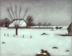 Jan Mankes, Winter in Eerbeek, 1917 Weimar: So cold outside Winter Painting, Winter Art, Mary Cassatt, Monet, Landscape Art, Landscape Paintings, Classic Paintings, Dutch Painters, Dutch Artists