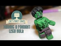 Making a fondant lego hulk How To Tutorial Zoes Fancy Cakes