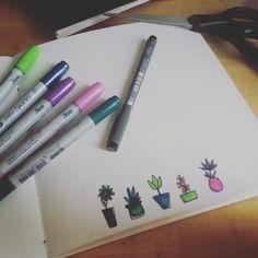 Doodling Flowerpower // sketchbook
