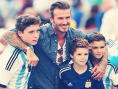 The sons of David Beckham are Leo Messi fans. Here' they are wearing an Argentina jersey! http://www.1502983.talkfusion.com/es/products
