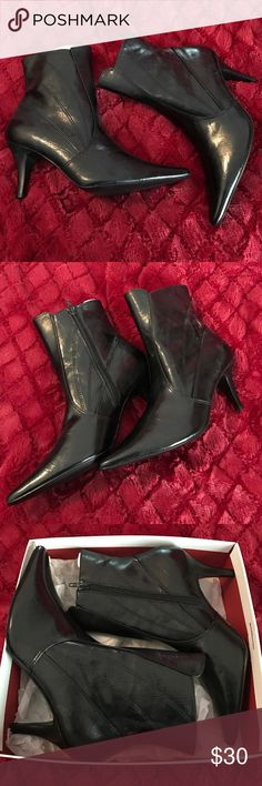 BRAND NEW BLACK HEELED BOOTIES About 2&1/2 inches, never worn Style & Co Shoes Ankle Boots & Booties