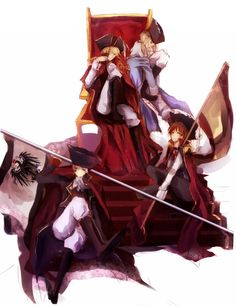 Pirate France Pirate England Pirate Spain And Pirate Prussia - hetalia
