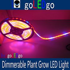 goLEDgo LED Plant Grow Light Strip 16FT 5M 300 LEDS5050 SMD Waterproof Free Shipping RB 51 DC12V gift Power supply and finisehd DC head Original design and Produced by goLEDgo strip 01 ** Click image for more details.