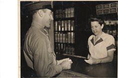 Tom Lambe at commissary