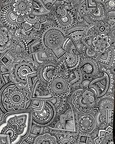 Image in Art collection by Katalin Puha on We Heart It Doodle Art Drawing, Mandalas Drawing, Zentangle Drawings, Art Drawings, Zentangles, Mandala Doodle, Mandala Art Lesson, Doodle Patterns, Zentangle Patterns
