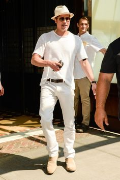 Wow Brad Pitt Killed it with this summer outfit. GettyImages-578063448.jpg