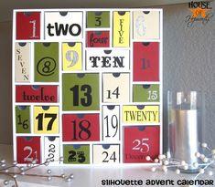 How to make an adorably festive Advent Calendar!  Complete tutorial at www.houseofhepworths.com