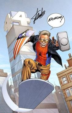 Stan lee made and writer the marvel comic, This image of stan lee he has Thor hammer and spiderman top and a x men belt and Marvel Comics, Marvel Avengers, Marvel Fanart, Marvel Memes, Marvel 2099, Captain Marvel, Avengers Team, Avengers Superheroes, Spiderman Marvel