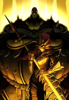 Everyone's favorite gilded, bickering couple from Dark Souls. Dragonslayer Ornstein and Executioner Smough Dark Souls Lore, Dark Souls 2, Demon's Souls, Dragon Slayer, Dragon Age, Soul Saga, Very Beautiful Images, Dark Blood, Praise The Sun