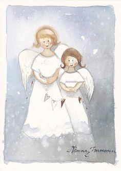 Сказочные новогодние акварели Minna Immonen - Ярмарка Мастеров - ручная работа, handmade