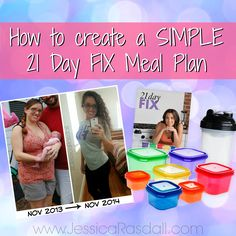 How to create a SIMPLE 21 Day Fix Meal Plan
