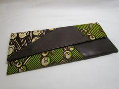 African Print Clutch