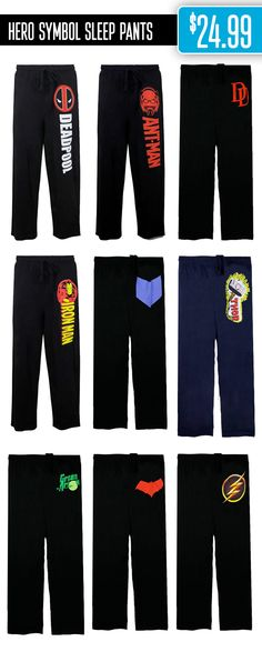 NEW STUFF: Boom! Pow! Pajama pants!  These sleep pants are perfect for sleeping in, obviously, but they are also great to relax in while catching up on your favorite Superhero show: http://www.superherostuff.com/superhero-sleep-pants.html?sortby=new