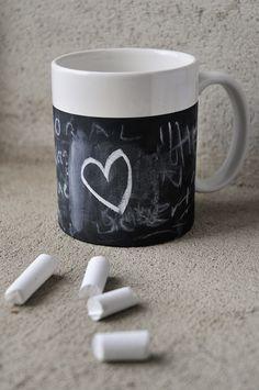 Mug with chalkboard paint
