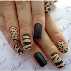 Unique and Beautiful Nail Art Designs 2017 - Artistic Nail Designs Fancy Nails, Pretty Nails, Nice Nails, Leopard Nails, Manicure E Pedicure, Manicure Ideas, Hot Nails, Nagel Gel, Beautiful Nail Art
