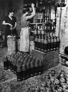 David Seymour View profile SPAIN. Industries in the Basque country are kept running by women who replace factory workers who have gone off to fight for Euzkadi's autonomy. Women here are assembling shells for the war effort. 1936.