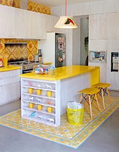 Love the yellow tiles on the floor