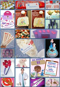 Magically Donna Kay: Disney Party Boards - Doc McStuffins Party