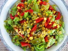 μικρή κουζίνα: Σαλάτα πράσινη με βινεγκρέτ πετιμεζιού Guacamole, Cobb Salad, Salsa, Mexican, Cooking, Ethnic Recipes, Food, Green, Cucina