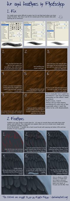 Photoshop Digital Painting Tutorial How to Create Fur and Feathers (best fur tutorial I've seen yet)