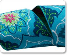 """2""""  Blue on Navy Belle Brocade - Amy Butle picture"""