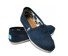 Deep Blue TOMS Classic Canvas Shoes For Women