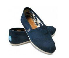 Deep Blue TOMS Classic Canvas Shoes For Women