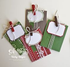 These festive envelopes are a doddle to rustle up - perfect for those last minute gift card or money presents! - Vicky Hayes