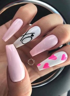 28 Cute Awesome Acrylic Nails Design Ideas for This year 2019 Part 17 – Coffin nails designs - Search Almond Acrylic Nails, Summer Acrylic Nails, Cute Acrylic Nails, Cute Nails, Pretty Nails, Gel Nails, Coffin Nails, Nail Polishes, Classy Nails