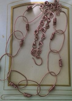 large links hand wrapped copper chain.  Venice Beach Adornments