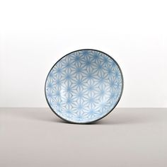 Large bowl with sky blue geometric ornaments from the Indigo Ikat collection 😊 Ceramic Tableware, Japanese Ceramics, Large Bowl, Ikat, Decorative Bowls, Indigo, Ornaments, Collection, Blue