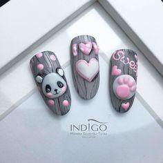 Nail Art Hacks, Nail Art Diy, Classy Nails, Simple Nails, Gorgeous Nails, Pretty Nails, Nail Art Designs Images, Animal Nail Art, Pink Nail Art