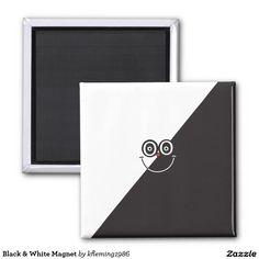 Black & White Magnet