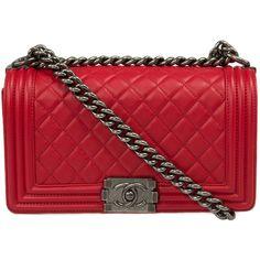 Red Chanel boy bag https://www.tradesy.com/bags/chanel-shoulder ...