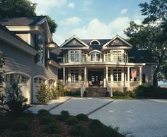 like the way the porch & garage are aligned ~ creates a courtyard ~ Private Residence 20 | Portfolio - Wayne Windham Architect